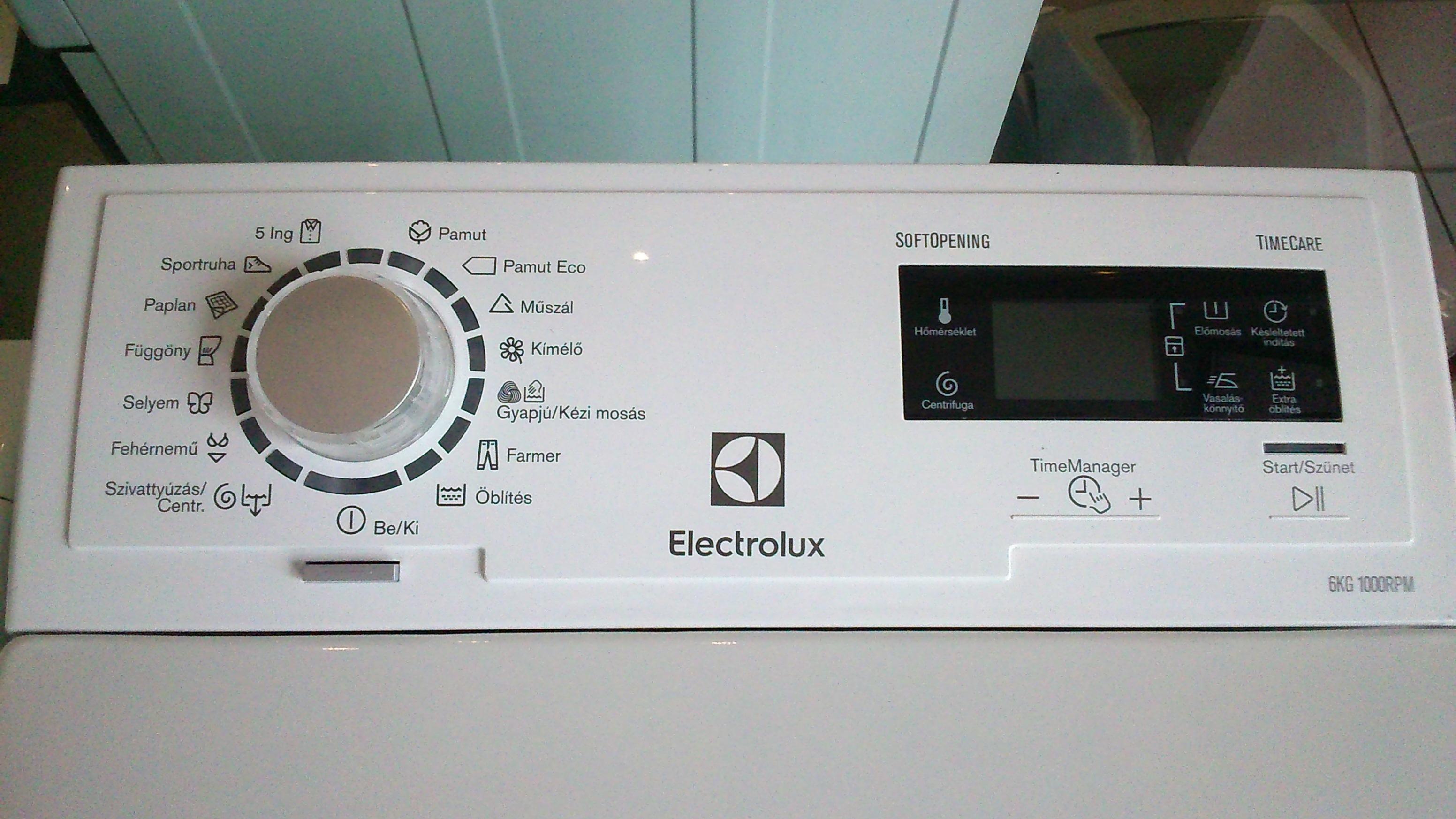 Electrolux felültöltős mosógép